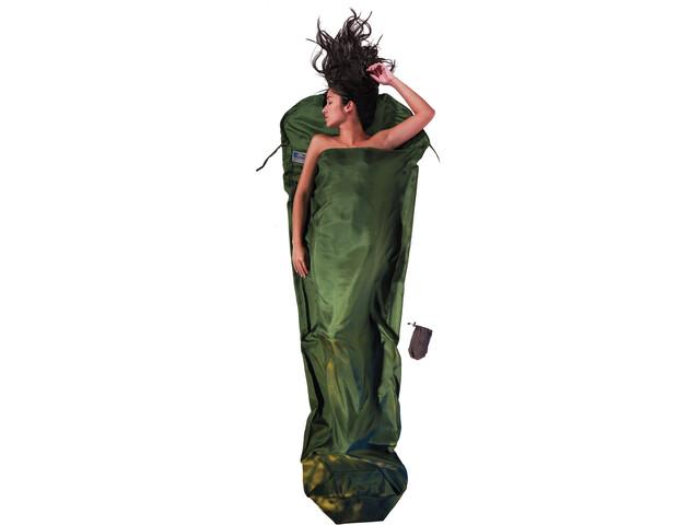 Cocoon MummyLiner Silkki, dark olive green